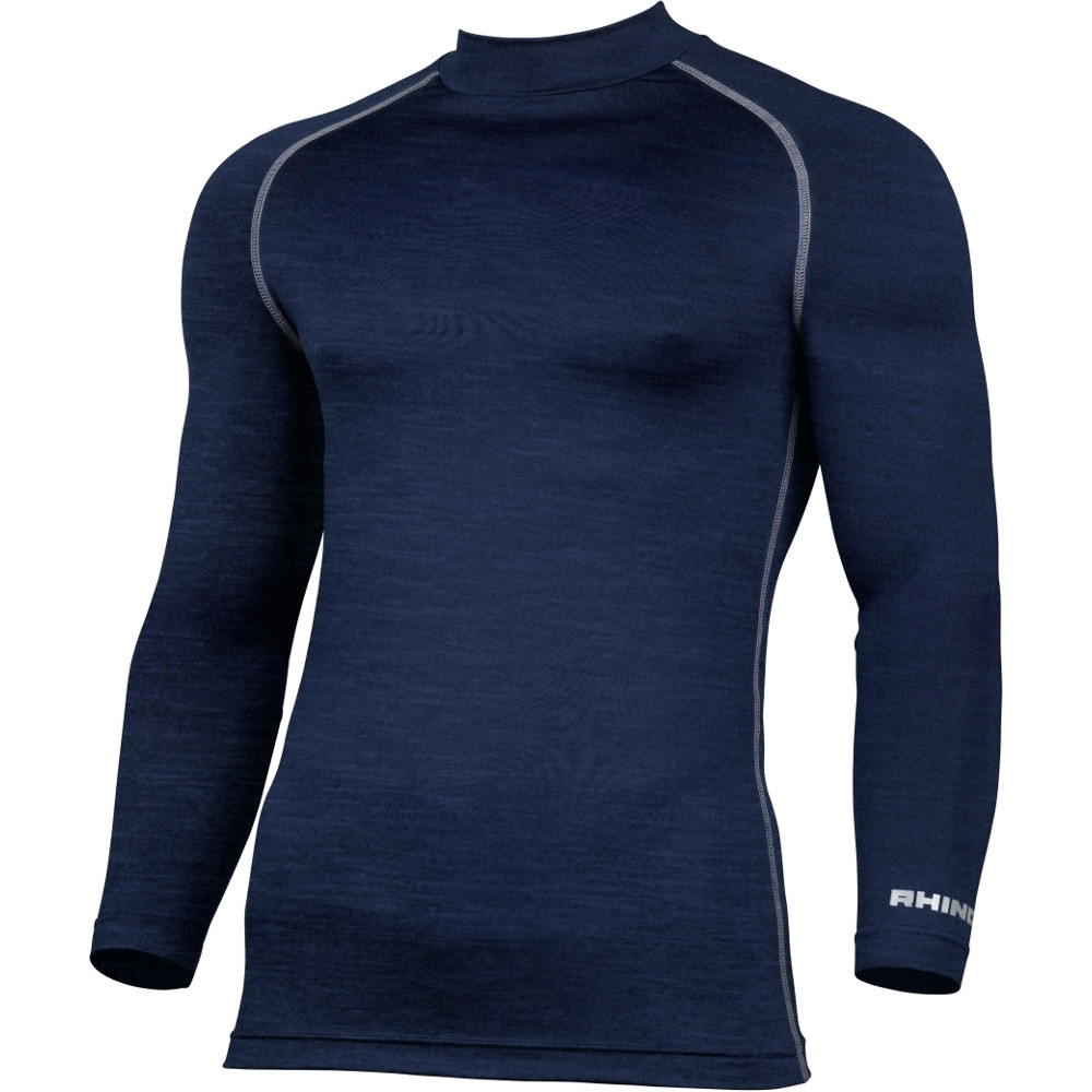 Rhino Mens Lightweight Quick Dry Long Sleeve Baselayer Top XS - (Chest 34/36')