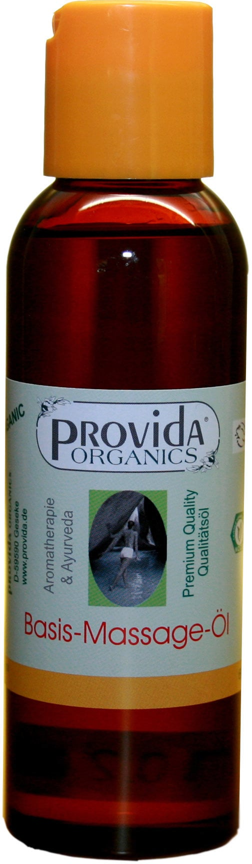 Provida Organics Base Massage Oil, certified organic