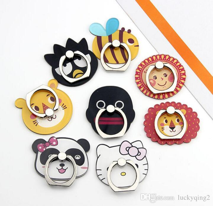Universal Fashion Cartoon Bee bear animal Ring Holder 360 Degree Mobile Phone Stand Universal Ring hook bracket For Mobile Phones