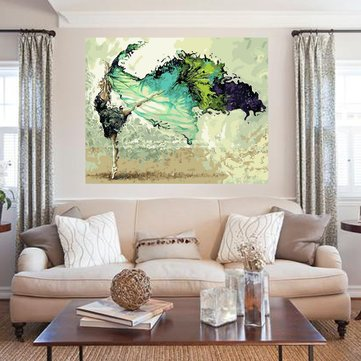 40X50CM Frameless Dancer Painting DIY Self Handcrafted Paint Home Decor