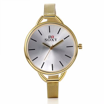 SOXY Simple Watch Alloy Luxury Weaving Brand Women Watch