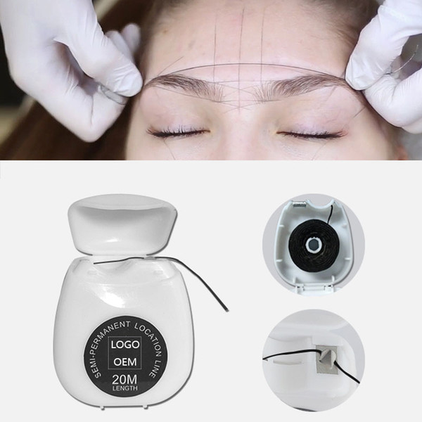 New Microblading MAPPING STRING Pre-Inked Eyebrow Marker thread Tattoo Brows Point 20m Pre Inked tattoo PMU string for mapping
