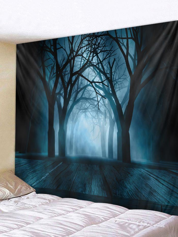Halloween Tree Tapestry Wall Art Decoration