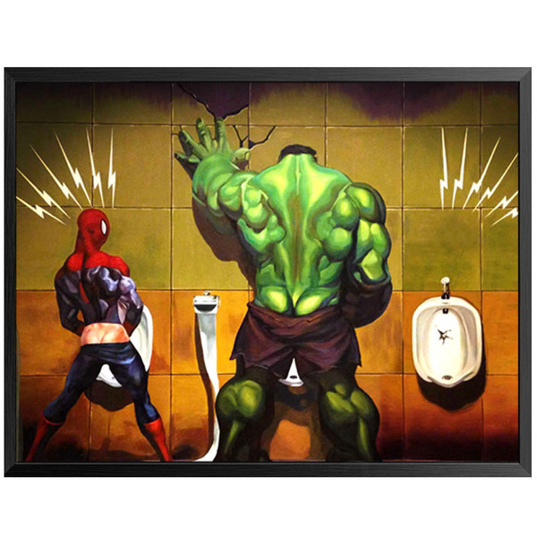 superhero toilet bathroom cuadros nordic poster anime wall art canvas painting washroom wall pictures for living room unframed