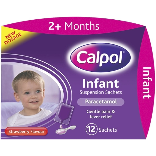 Calpol Infant Strawberry Flavoured Suspension Sachets 12x5ml