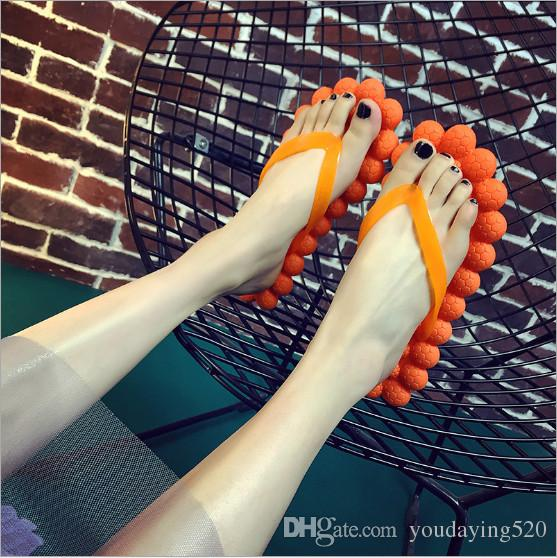 2018 NEW Women Slippers Massage Sole Shoes Flip Flops Sandals Flat Fashion Bathroom Slipper