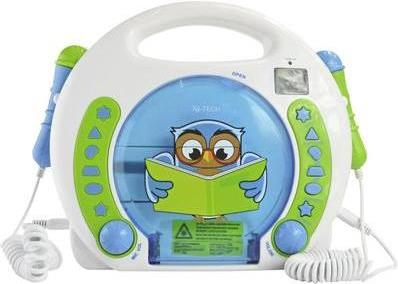 X4-Tech Kinder CD-Player Bobby Joey Lese Eule (701595)