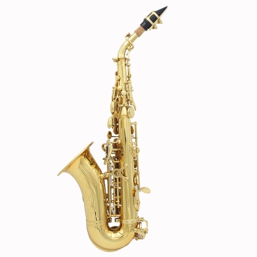 Lade Laiton Carve Motif Bb Bend Althorn Saxophone Soprano
