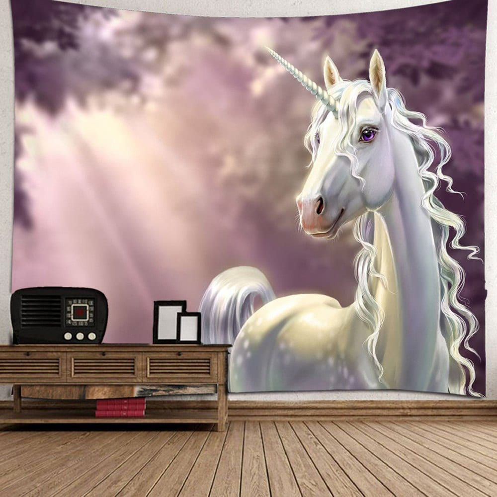 3D Unicorn Tapestry Home Decoration