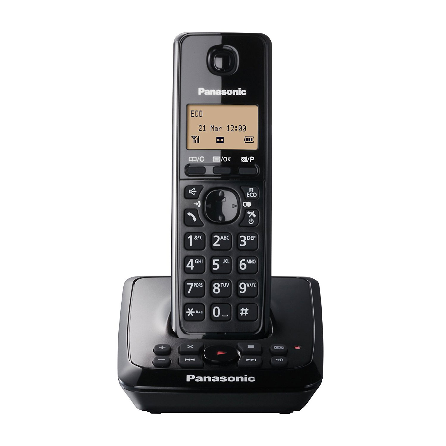 Panasonic Single DECT Cordless Phone with Answer Machine (KX-TG2721EB)