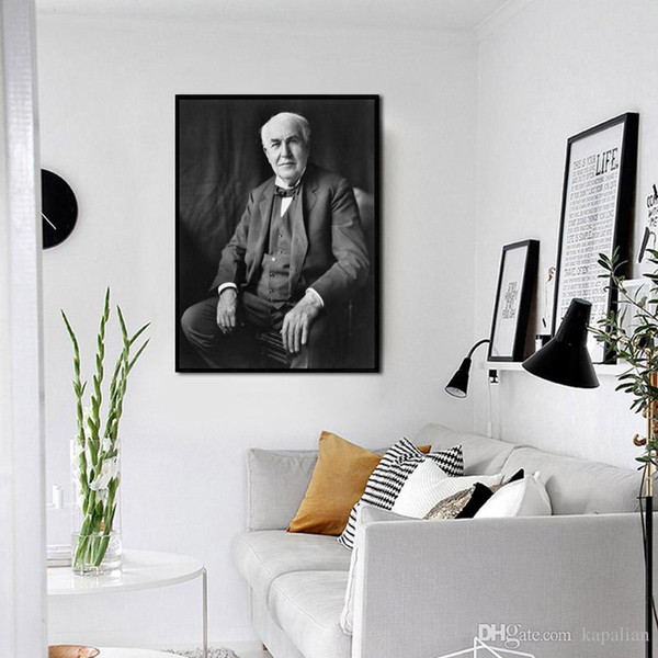 Thomas Edison Portrait The Great Physicists Engineering Scientists Home Decor Art Poster Print 16 24 36 47 inches