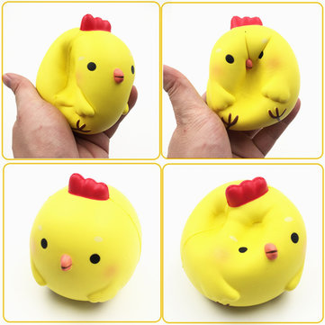 Squishyfun Yellow Chicken Squishy 10cm Slow Rising Original Packaging Collection Gift Decor Toy
