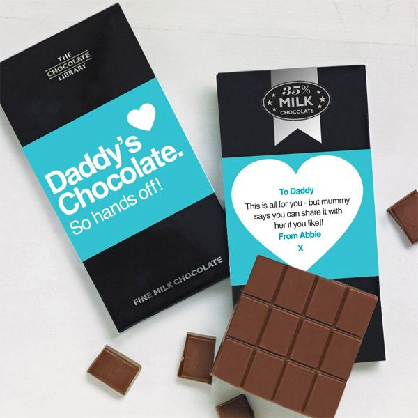 Personalised Daddy Chocolate Bar
