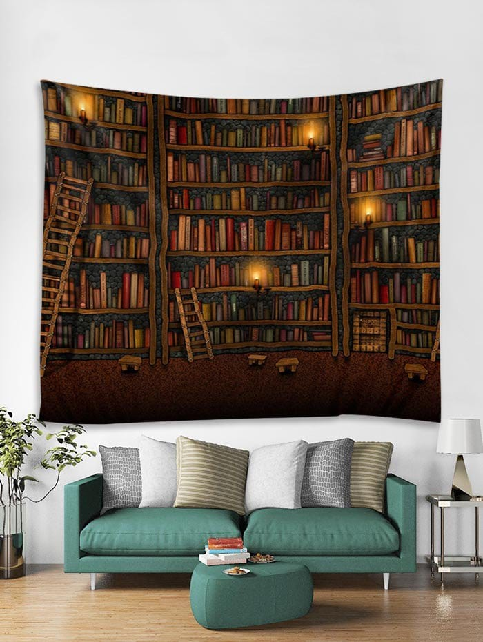Bookrack Print Art Decoration Wall Tapestry