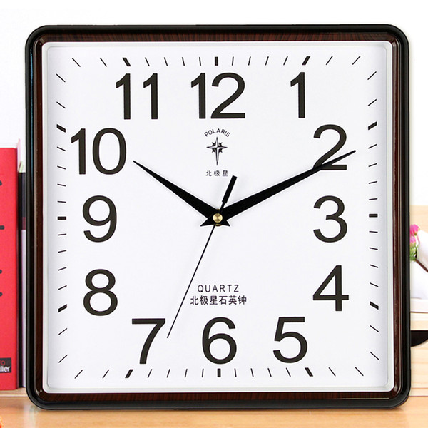 modern wall clock wall watches home decor square bedroom kitchen quartz clock secret hiding pow pendule mural room sc076