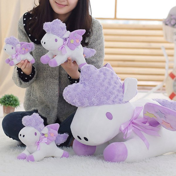 Unicorn Doll Japan Second Element Cute Simulation Horse Christmas Gift Horse One-horned Doll