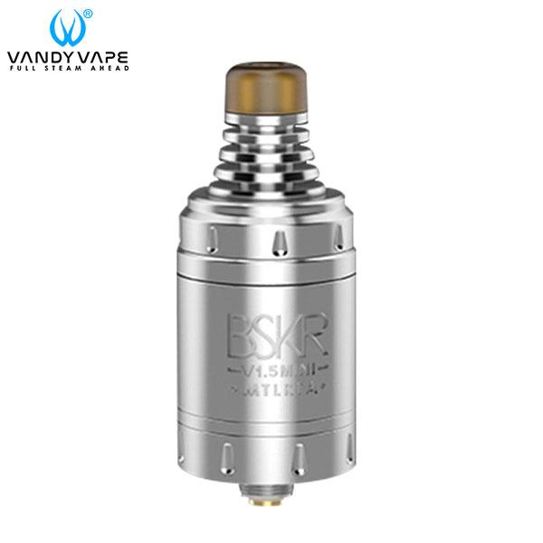 Authentic VandyVape Berserker V1.5 Mini 2.5ml MTL RTA Rebuildable Tank Atomizer - Silvery SS Stainless Steel