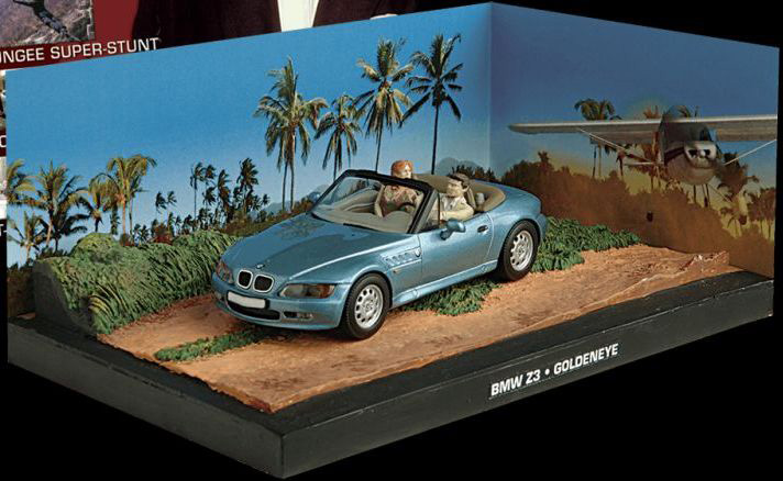 BMW Z3 from James Bond in Blue (1:43 scale by Ex Mag DY009)