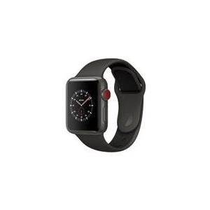 Apple Watch Edition Series 3 (GPS + Cellular) - 38 mm - gray ceramic - intelligente Uhr mit Sportband - Flouroelastomer - gray/black - 130 - 200 mm - 16GB - Wi-Fi, Bluetooth - 4G - 40,1 g (MQM42ZD/A)