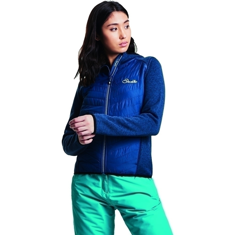 Dare 2b Womens Refinery Full Zip Knit Effect Fleece Jacket 20 - Bust 44' (112cm)