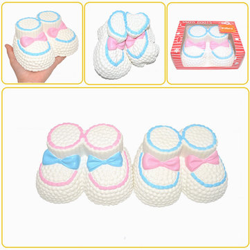 Kiibru Squishy Jumbo Snow Boots 16cm Slow Rising Original Packaging Collection Gift Decor Toy