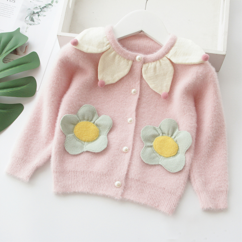 Baby / Toddler Stylish Floral Decor Sweater