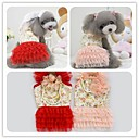 New Fashion Wedding Dress with A Corsage Pet Apparel Dog Products Clothing for Dog RedPink XSSML