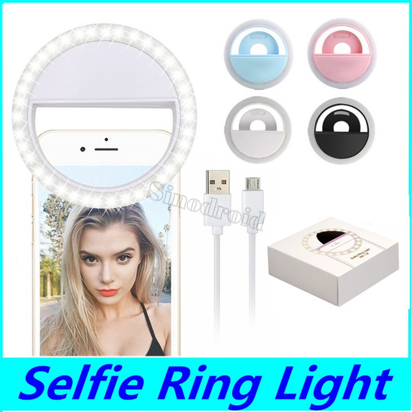 rk12 rechargeable universal led selfie light ring light flash lamp selfie ring lighting camera pgraphy for iphone samsung s10 plus 50pcs