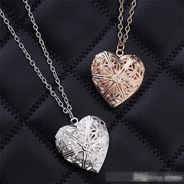 new hollow heart pendant necklaces fashion jewelry love collares geometric charm necklace bijoux for gift epacket ing
