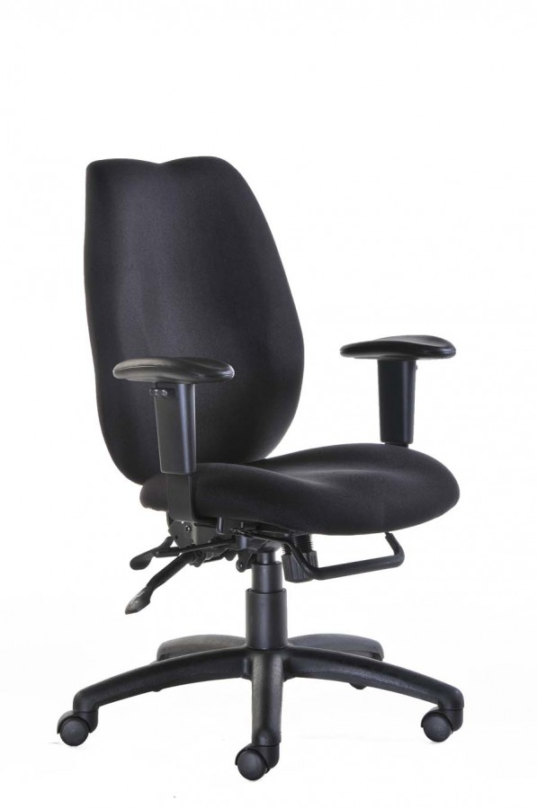 Cornwall Ergonomic High Back Operators Office Chair Black