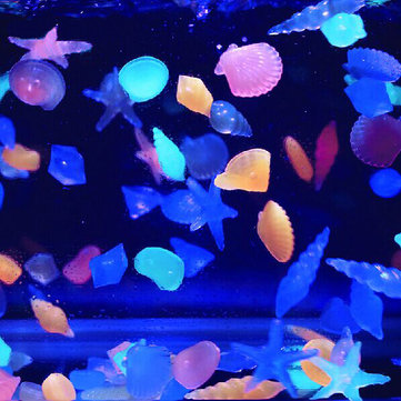 10Pcs Fish Tank Landscape Glow Pebble Light Emitting Stone Aquarium Luminous Decor
