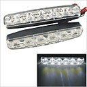 Carking™ 12V 6LED Car Light DRL Daytime Running Head Lamp-White Light(2PCS)