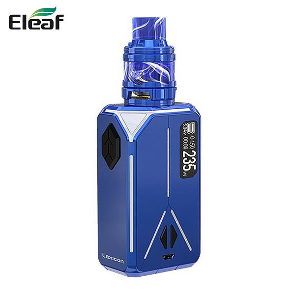 Authentic iSmoka Eleaf Lexicon 235W With 2ML ELLO Duro Tank TC Starter Kit APV TPD Edition - Blue