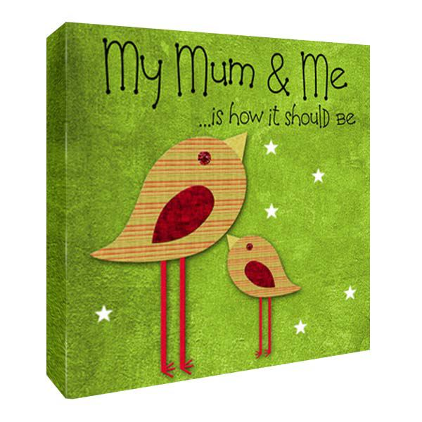 My Mummy and Me Personalised Canvas Print 10 by 10 inches