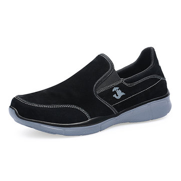 Men Cow Leather Non-slip Shock Absorption Casual Shoes