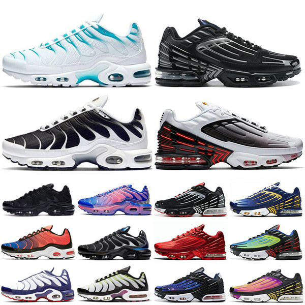 NEW TN Plus Running Shoes for Mens Tn 3 Tuned Triple white Blue Fury Oreo Womens Mens sports sneakers trainers chaussures outdoor 36-45