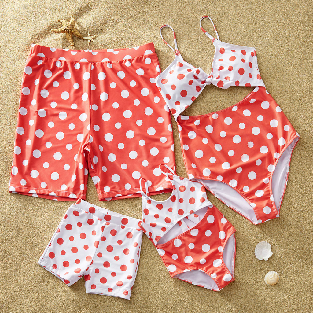 Polka Dots Swimwear for Family