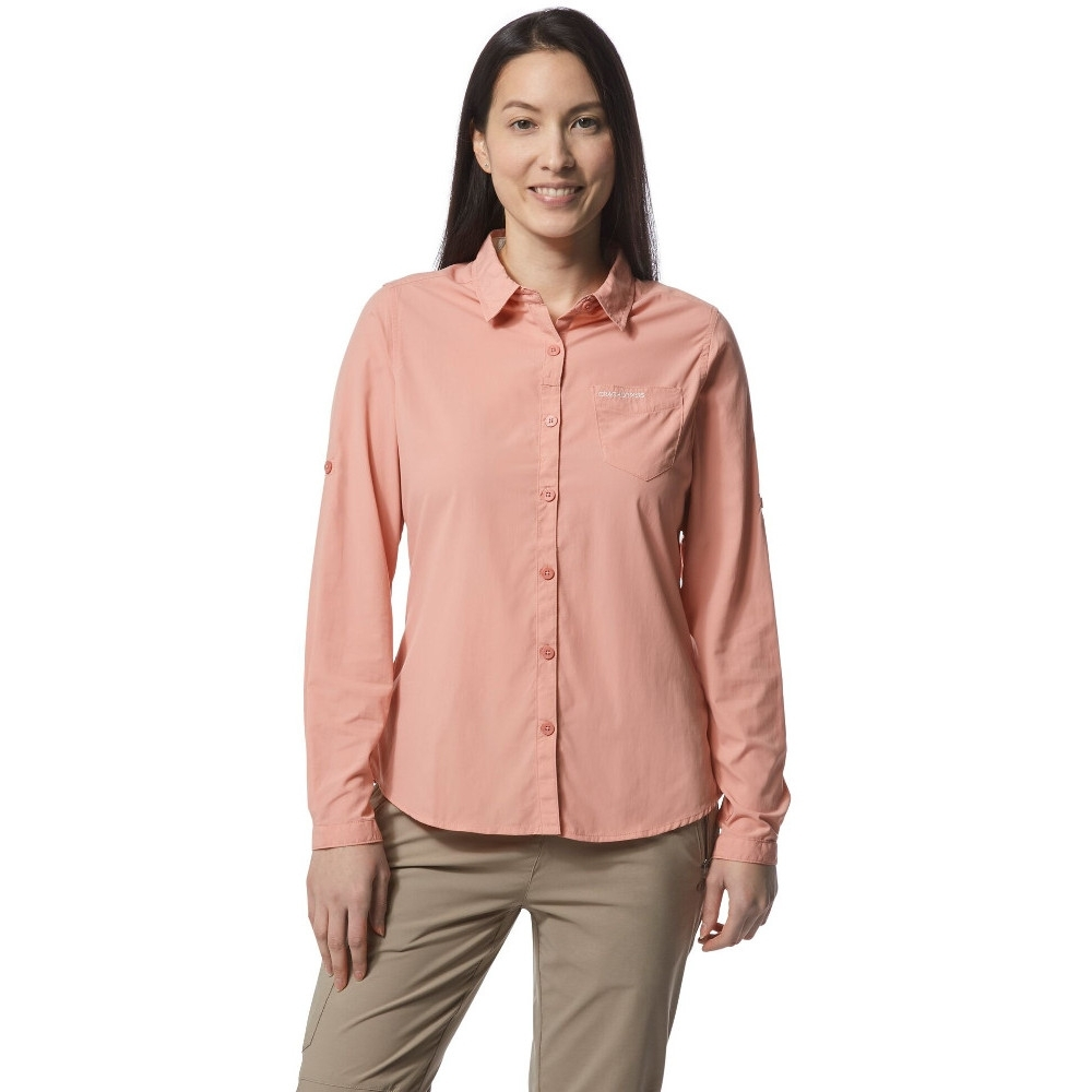 Craghoppers Womens/Ladies Bardo Insect Repellent Long Sleeve Shirt 18 - Bust 42' (107cm)