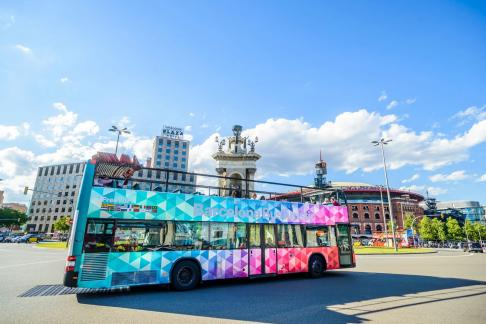 Barcelona L' Aquarium + City Sightseeing Barcelona Hop-on Hop-off