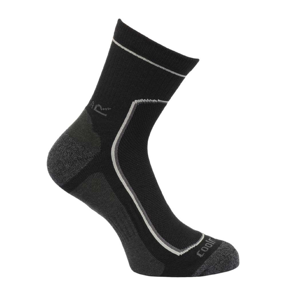 Regatta Mens Active Walking Socks Black RMH031