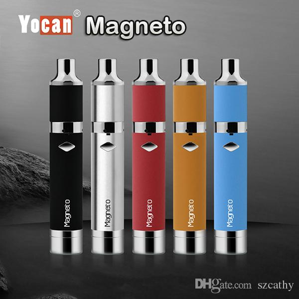 Authentic Yocan Magneto Wax Pen Kits Original Yocan E Cigarette Kits With Magneto Connection & Dab Tool 1100mAh Battery Upgraded Evolve Plus