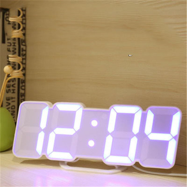 3d remote control digital wall clock 115 colors led table clock desk time alarm temperature date sound control night light