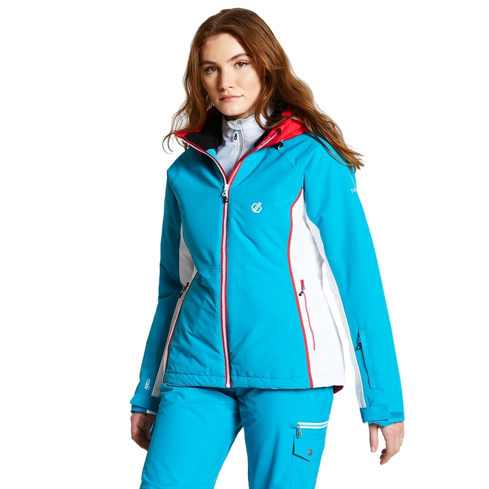 Dare 2b Womens Thrive Waterproof Breathable Ski Coat Jacket UK Size 16- Chest Size 40' (102cm)