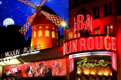 Seine Dinner Cruise, Eiffel tower by night, Moulin Rouge Show with Champagne