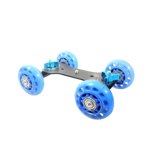Table Top Dolly Mini Car Skater Track Slider Super Mute for DSLR Camera Camcorder Blue