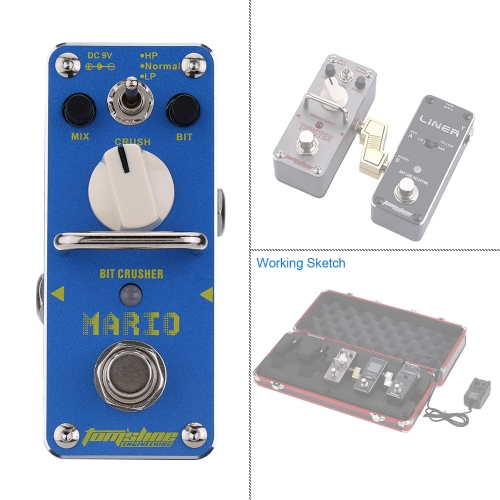 AROMA AMO-3 Mario Bit Crusher Electric Guitar Effect Pedal