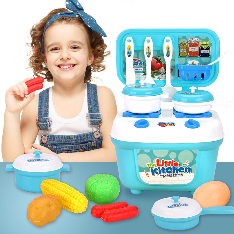 Children Kitchen Pretend Play Toys Food Miniature Play Do House Education Toy Gift for Girl Kid