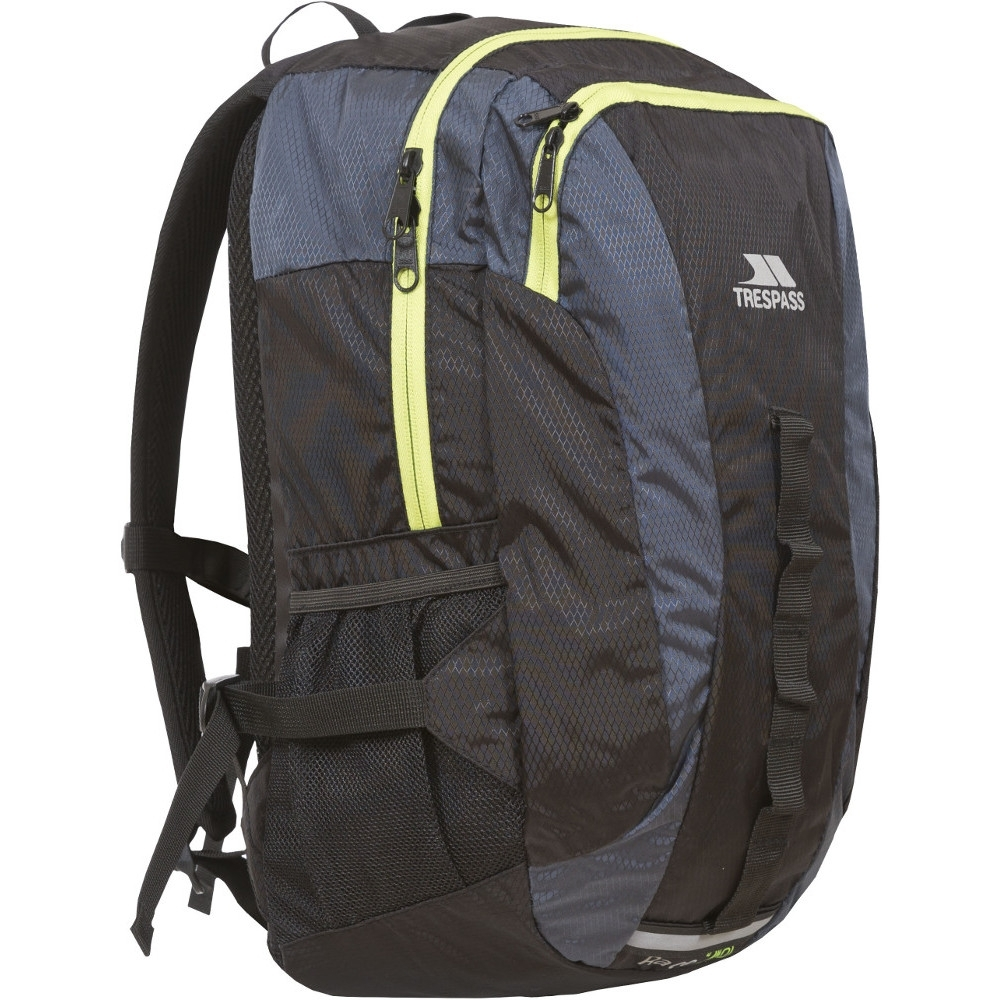 Trespass Mens & Womens/Ladies Race 20 Litre Reflective Padded Rucksack 20L - 29L