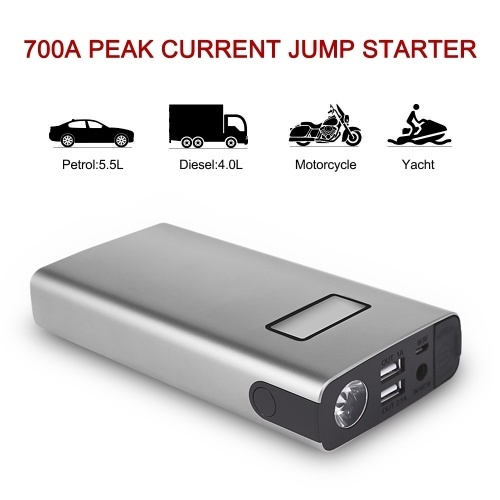 Car Jump Starter Portable Auto Battery Booster Kit Emergency Power Pack Phone Charger with Smart Charging Port (700A 18000mAh)