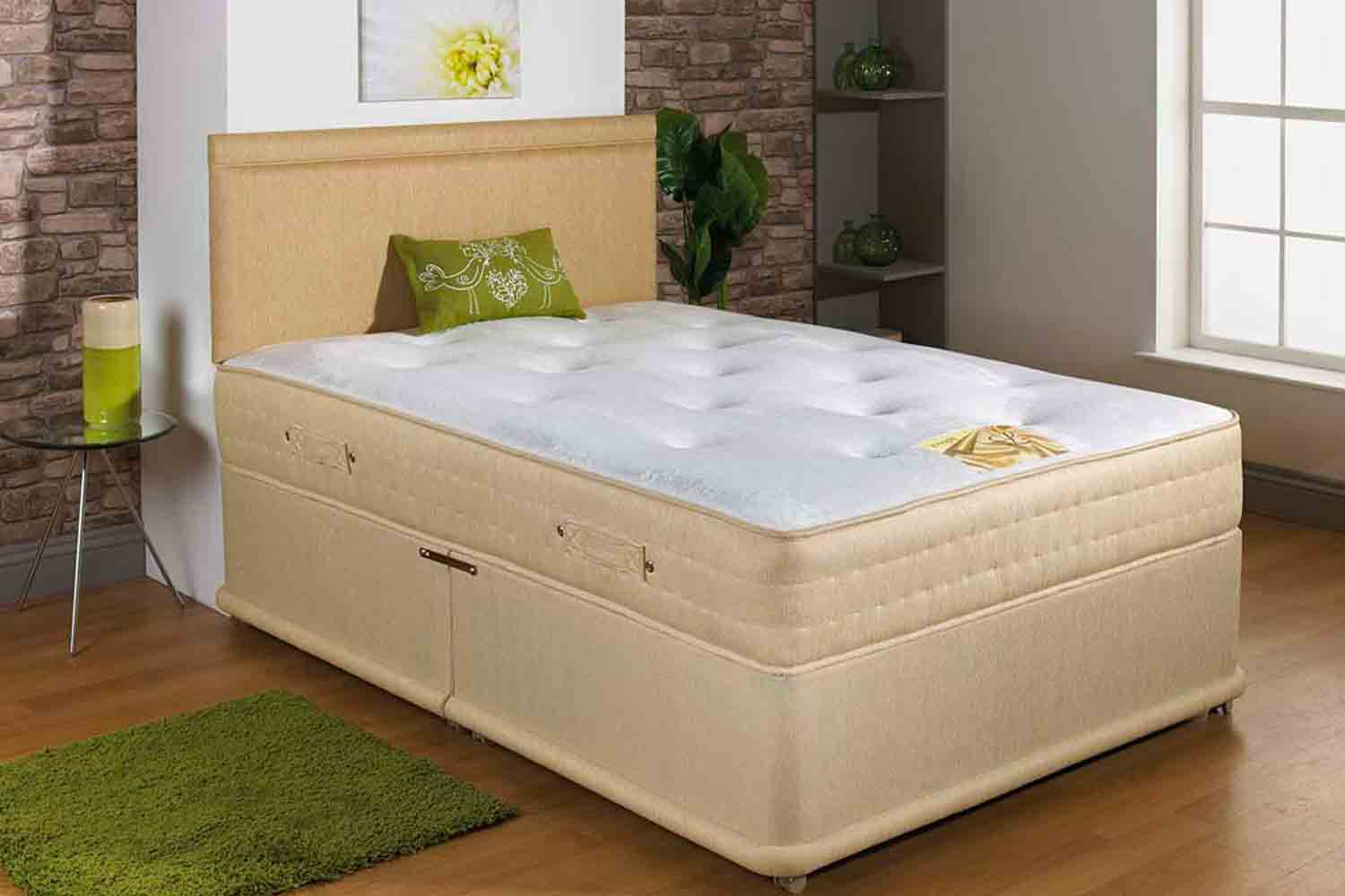 Joseph Lush Pocket Sprung Series 1500 Divan Bed-Double-2 Drawers Either Side